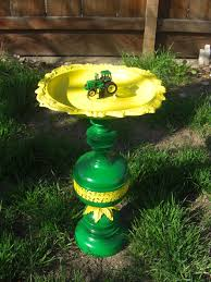 John Deere Kitchen Canisters Free Shipping One Of A Kind John Deere Birdbath Or Birdfeeder
