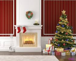 christmas fireplace props artistic color decor best with christmas