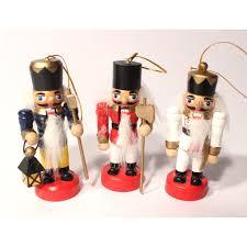 set of three 3 mini nutcracker ornaments ballet gift shop
