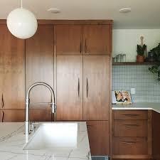 mid century modern walnut kitchen cabinets a gorgeous mid century modern kitchen remodel