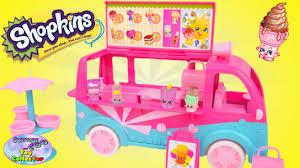 glitter truck shopkins glitzi ice cream truck exclusive popsi cool ice cream