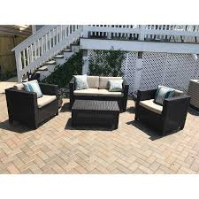 Christopher Knight Patio Furniture Reviews Puerta Outdoor 4 Piece Sofa Set By Christopher Knight Home Free