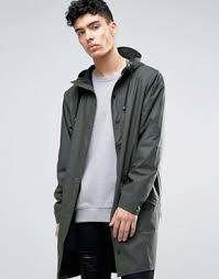 Green Parka Jacket Mens Rains Shop Rains Trench Jackets U0026 Coats Asos