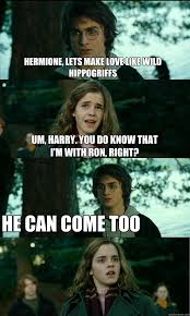Hermione Granger Memes - horny harry memes quickmeme