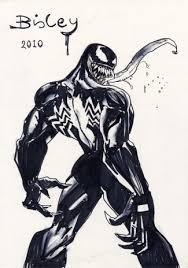 simon bisley comic art large venom sketch original art reed