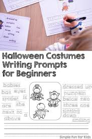 halloween costumes writing prompts for beginners simple fun for kids