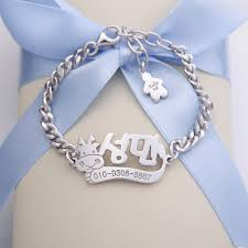 Personalized Name Bracelets Kaiu Engravable Baby Jewellery Children U0027s Jewellery