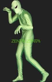 alien full body suit green alien spandex lycra zentai bodysuit 2 0