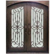 Steel Exterior Doors Home Depot by Majestic Entries 74 In X 96 In 1 Lite Finished Steel Double