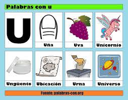 Imagenes Q Inicien Con La Letra U   palabras con la letra u u ejemplos de palabras con u