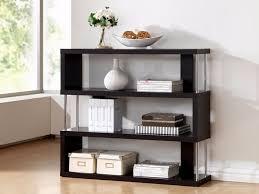 Bookcase Shelf Support Amazon Com Baxton Studio Barnes 3 Shelf Modern Bookcase Dark