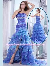 graduation gowns for sale sale column sweetheart high low beading and ruffled layers