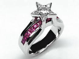 star wedding rings images European engagement ring diamond star pink sapphire bridge jpg
