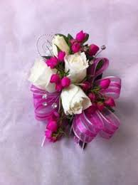 pink corsages for prom white and hot pink corsage flowers corsage