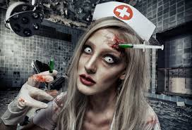 dead nurse halloween makeup tutorial ellimacs sfx
