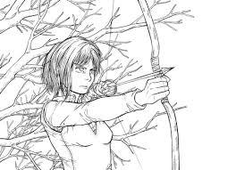 undertaker coloring pages sasha blouse burausu from manga anime series shingeki no kyojin