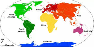 america map no borders how many continents and oceans are there on earth how are the