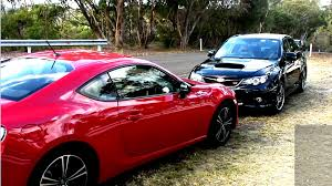 subaru brz vs scion fr s subaru wrx sti vs toyota gt86 fr s brz youtube