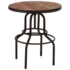 Round Bistro Table Twin Peaks Round Bistro Table Antique Metal Distressed Natural