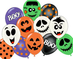 halloween party pdf printable balloon face sticker decorations