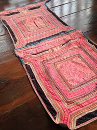 Handmade Fabric Crafts - vintage hmong handmade fabric embroidered hilltribe textile baby