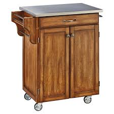 stainless top kitchen island home styles design your own small kitchen cart hayneedle
