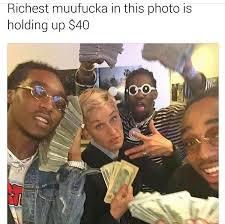 Ellen Degeneres Meme - ellen degeneres picture with migos february 2017 popsugar celebrity
