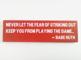 baseball sign ruth baseball room decor motivational