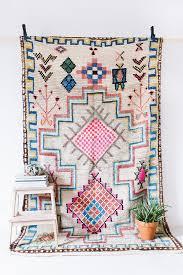 vintage moroccan boucherouite ourika rug