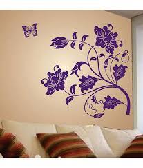 stickerskart sunflower print pvc purple wall stickers buy