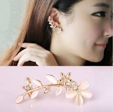 jual ear cuff jual anting korea style flower ear cuff biel