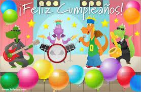 imagenes feliz cumpleaños rockero tarjeta con banda de rock cumpleaños tarjetas