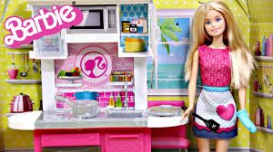 barbie doll and kitchen furniture set barbie kuchnia z lalk barbie doll and kitchen furniture set barbie kuchnia z lalk cfb63 cfb62 recenzja youtube