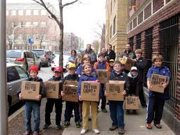 2011 donation from cub scouts on thanksgiving volunteer center helps