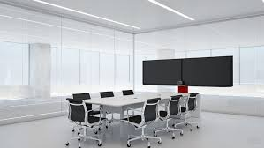 conference table with recessed monitors innovant products form av