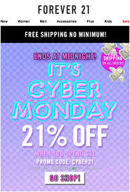 forever 21 cyber monday 2017 sale deals cyber week 2017