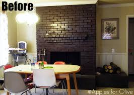 fireplace brick paint colors simple painting brick fireplace u