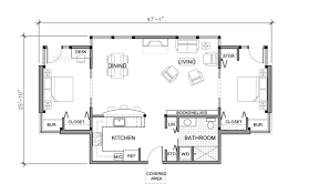 Fishing Cabin Floor Plans by 1 Story House Plans One Level Home Plans Associated Designs 17