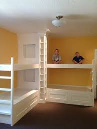 DIY Wall To Wall Built In Bunk Beds And A Full Room Remodel - In wall bunk beds