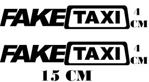 Conhecido 2 Adesivos Logo Fake Taxi Adulto 18 Sa8 Com Frete Gratis - R$ 11  &VW35