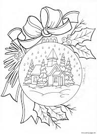 christmas house snow coloring pages printable