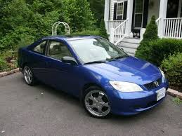 honda civic 2004 coupe purchase used blue 2004 honda civic ex coupe 2 door 1 7l with amp