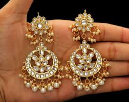 chandbali earrings chandbali etsy