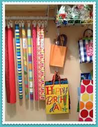 wrapping paper station 11 fast easy wrapping paper storage ideas