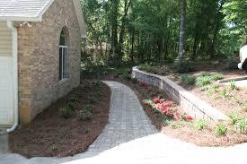 Paving Ideas For Gardens Landscape Ideas Landscape Drainage Design With Brick Paving Ideas