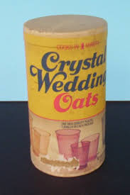 wedding oats box of oatmeal with glass inside grew up with these even got