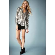 metallic blouse 67 topshop tops topshop x kate moss metallic blouse from