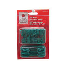 home accents 1 375 in green ornament hooks 150 count
