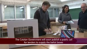 catalonia getting ready to buy the ballot boxes for the
