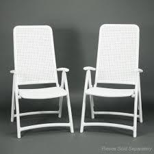 Folding Patio Chairs Darsena Reclining Outdoor Folding Patio Chair Bianco